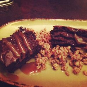 Brownie Caramel Granola Dessert