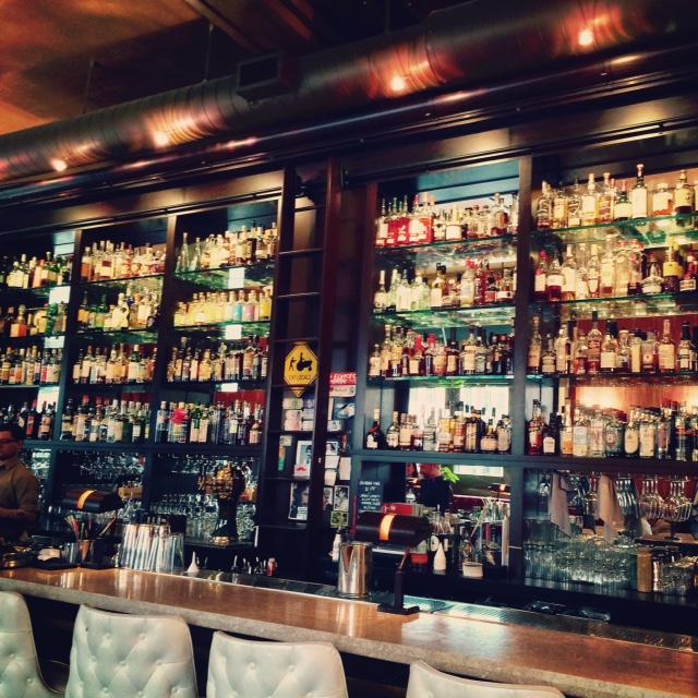 The AMAZING bar at Tender Bar + Kitchen