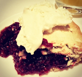 Raspberry Pie and Vanilla Ice Cream
