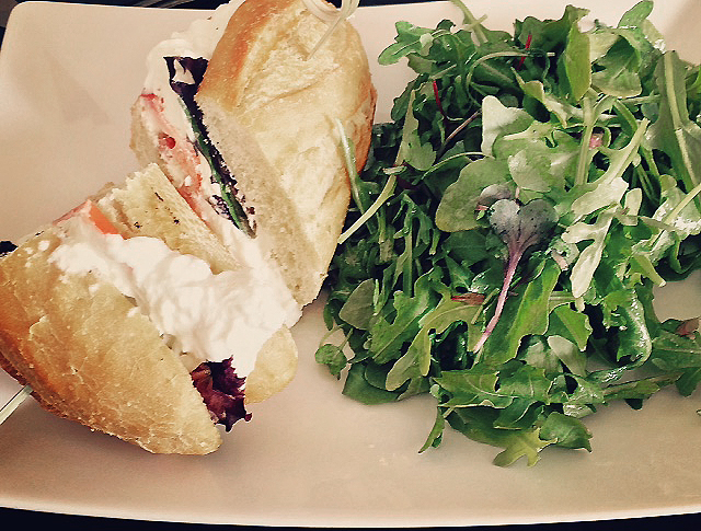 Bella Donna sandwich and side salad