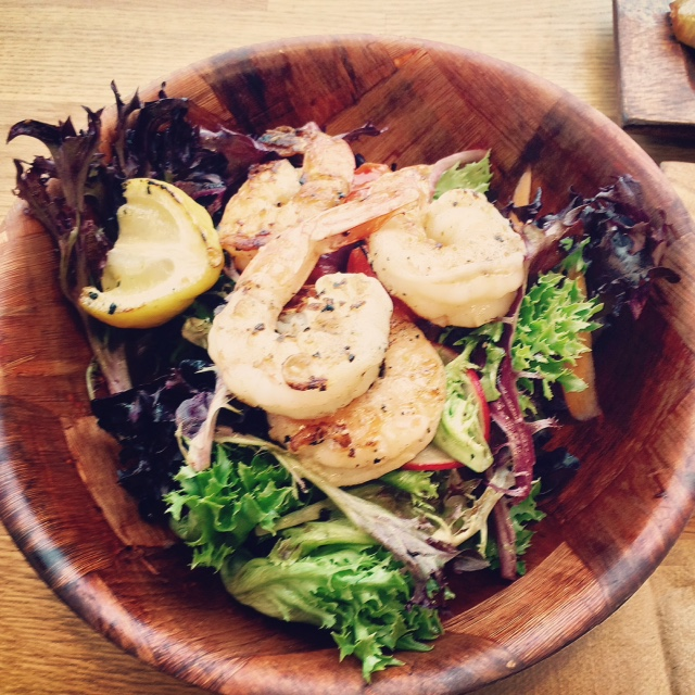 House Salad with Grilled Shrimp