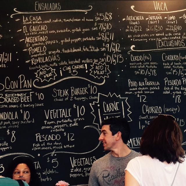 Chalkboard Menu Gaucho