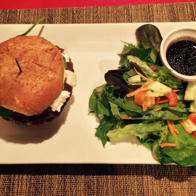 Butterbean Burger & Garden Salad