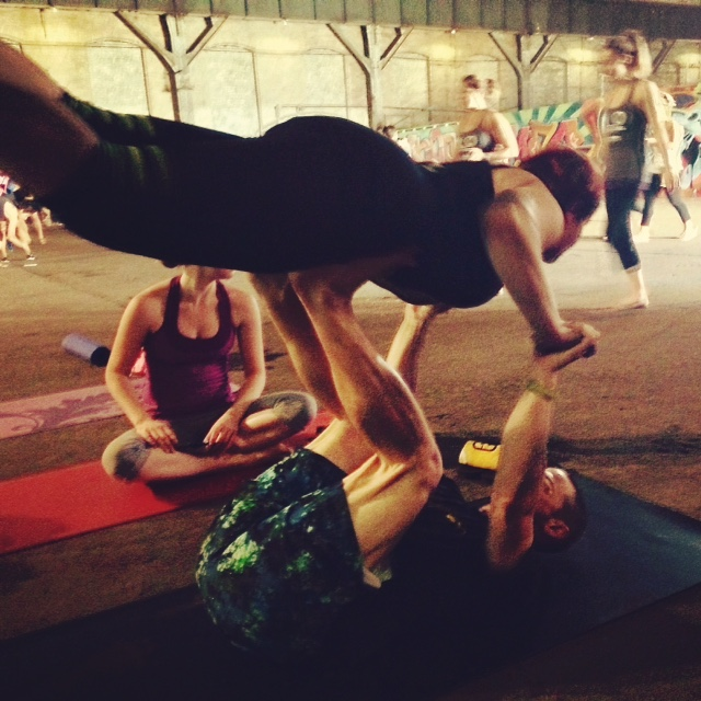Acro Yoga at Carrie Furnace