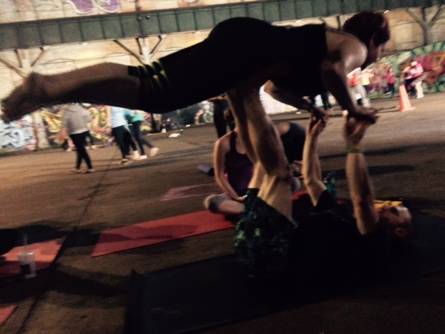 Acro Yoga at The Carrie Furnace