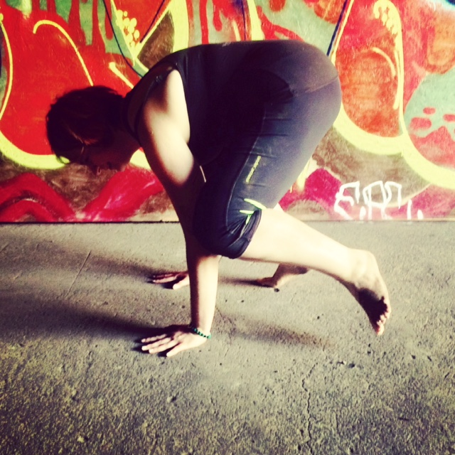 Crow Pose variation