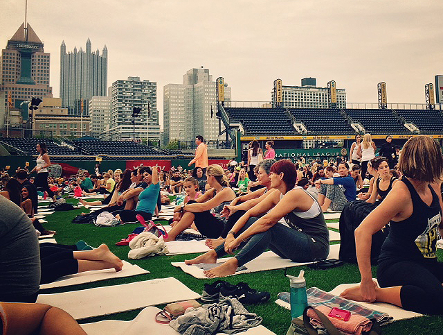 Yogis in the city!