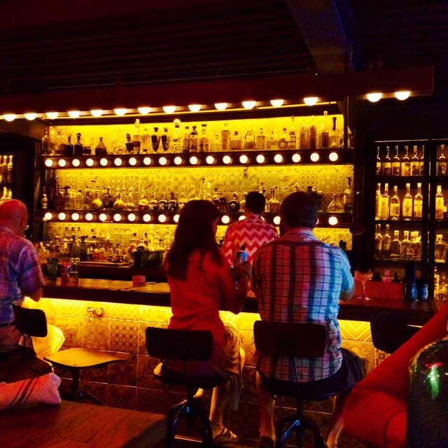 Tako's breath-taking bar, and wall of Mezcal and Tequila