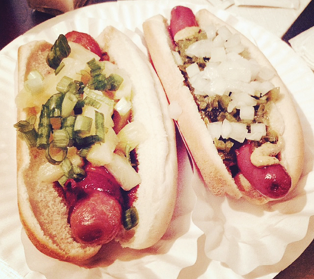 Tsunami & New Yorker Hot Dogs from Crif Dogs in New York City