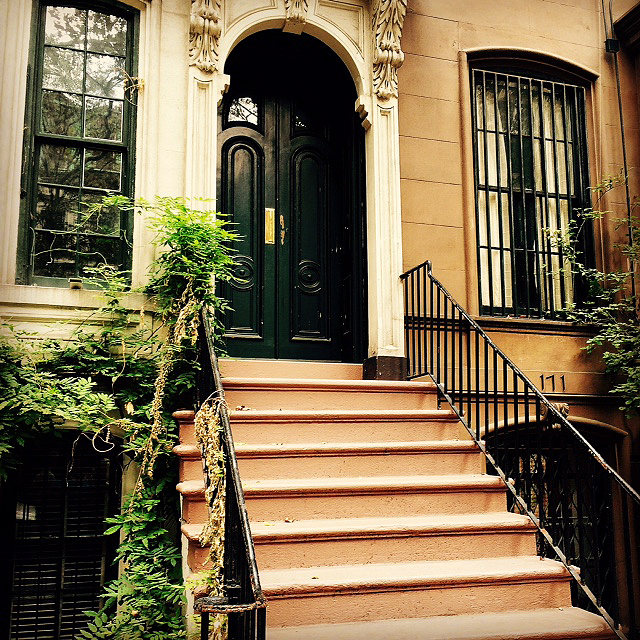 Holly Golightly's stoop from Breakfast at Tiffany's